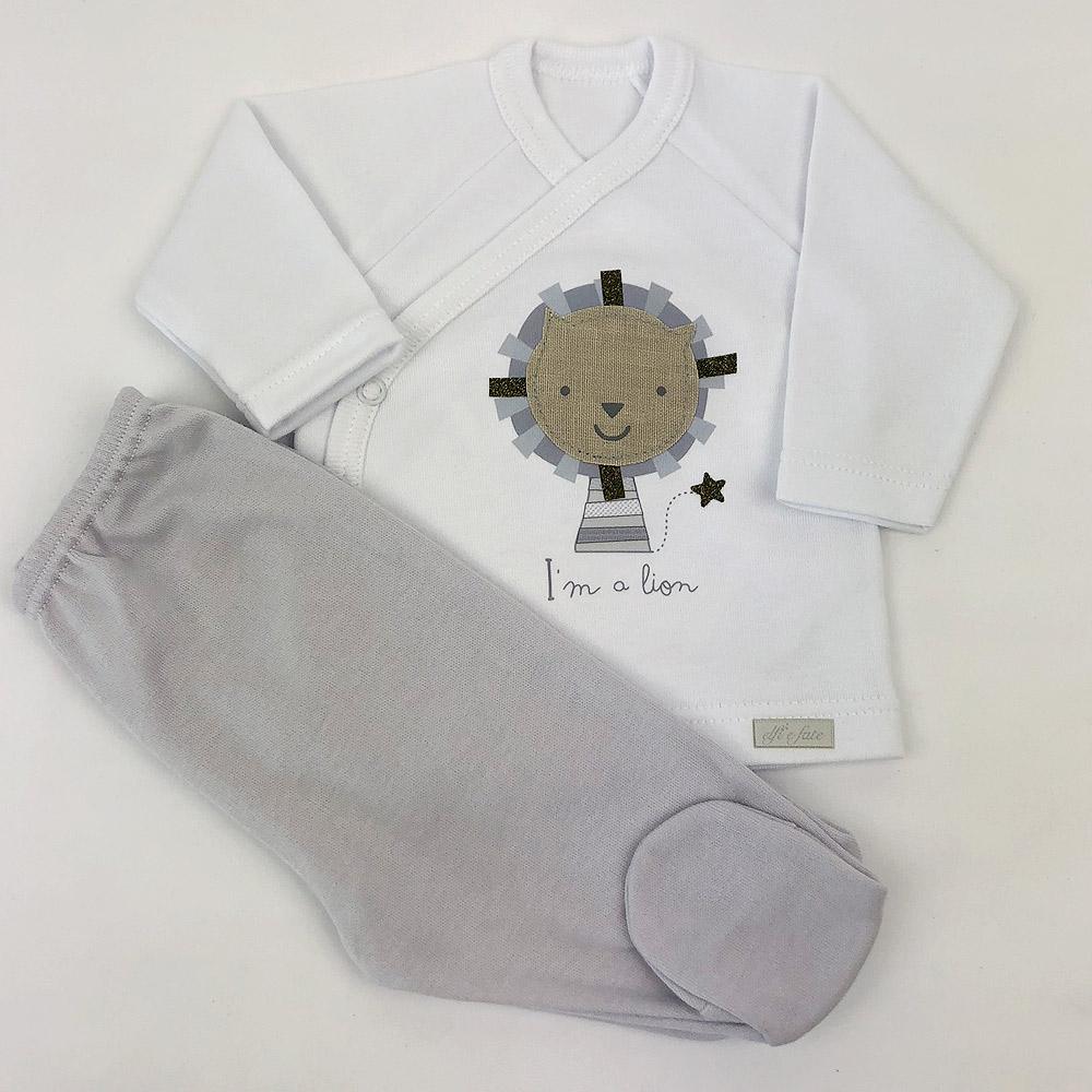 Conjunto para bebé de algodón 100%Lion