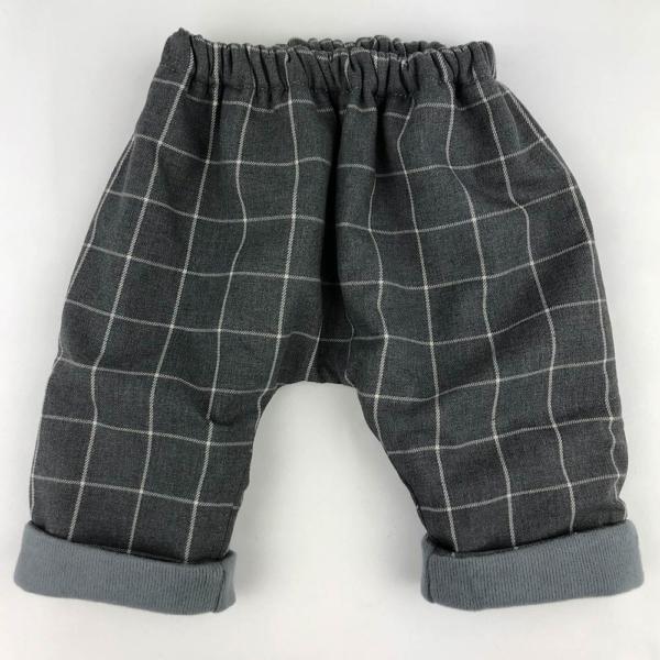 Pantalon cuadros oscuro