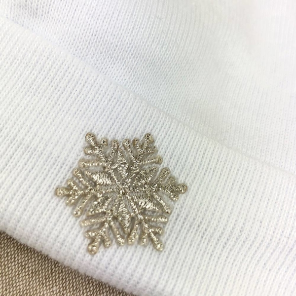 Gorro algodón Snow detalle