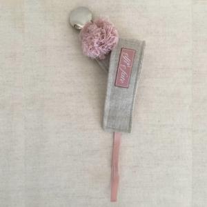 Pinza para chupete rosa