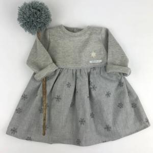 Vestido gris snow