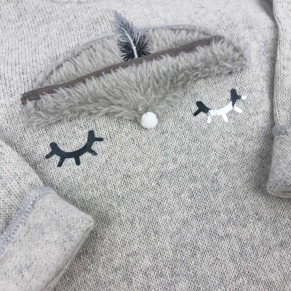 Conjunto fox gris niño
