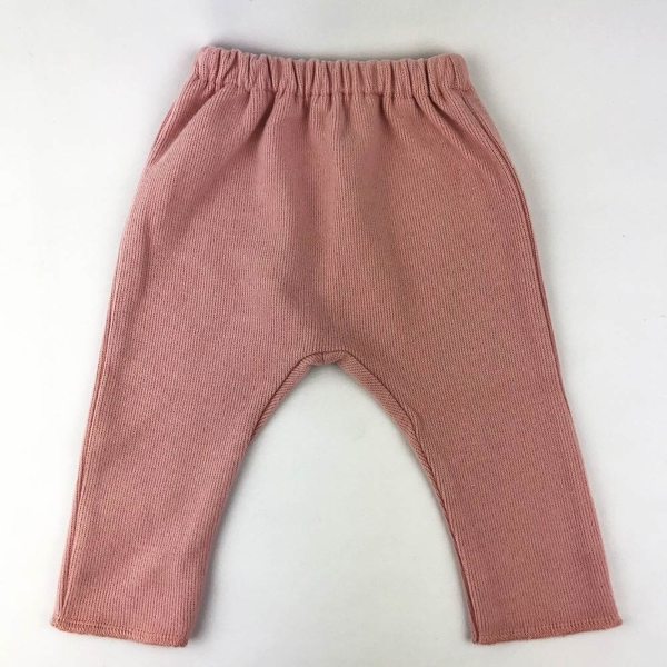 Pantalón de algodón orgánico rosa