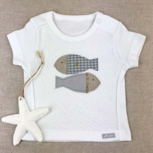 Camiseta manga corta marina