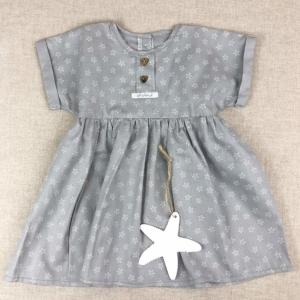vestido gris niza