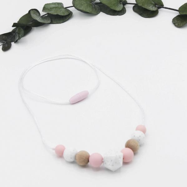 collar lactancia rosa